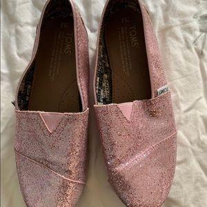 Pink Sparkle Toms